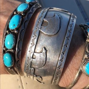 Jewelry - Vintage SS/ Native American storyteller cuff